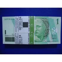 Cedula De 1,00 Real + Moeda 50 Anos Banco Central