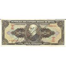 C065 Cédula 5 Cruzeiros 2ª Estampa 1950 Autografada Mbc