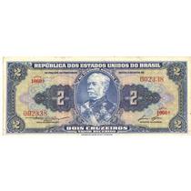 1 Cédula Dinheiro Antigo, 2 Cruzeiros, 1ª Série, Ano 1954