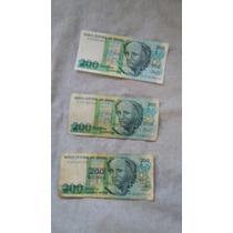 Cédula 200 Cruzeiros, Notas Antigas