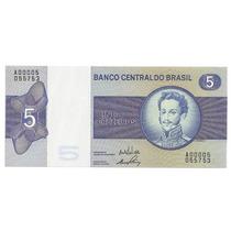 Brasil - C-133, 5 Cruzeiros, 1970, Série 00005ª, Fe - Rara