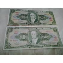 Cédulas Antigas 10 Cruzeiros - Notas Antigas - Dinheiro