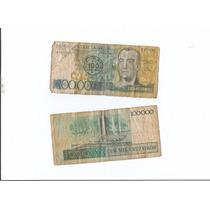 Cédula Dinheiro Antigo 100.000 (cem Mil Cruzados)