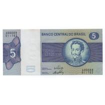 Cédula C133 - Fe - Ano 1970 - 5 Cruzeiros - Veja As Fotos