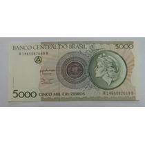 C222 - Bela Cédula De 5000 Cruzeiros 1990 Fe Provisória