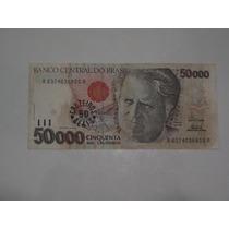 Cédula 50000 Cinqüenta Mil Cruzeiros Câmara Cascudo Lote 198