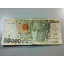 Cédula 50.000 Cinquenta Mil Cruzeiros - Câmara Cascudo.