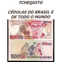 Brasil 500 Cruzeiros Reais C237 Fe Céd. Série 0001 Tchequito