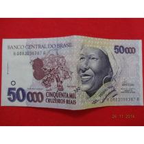 Cédula De 50.000 Cruzeiros Reais - Baiana