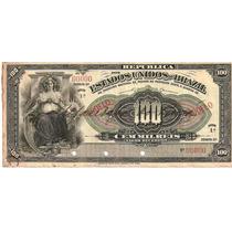 Rc0462 R137m 100 Mil Réis Tesouro Nacional Modelo 1911