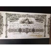 L1102 - Cédula Imperial N C - 10 Mil Réis R S 1868 - Réplica