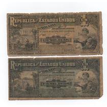 Lote De 2 Cédulas De Um Mil Réis- R074a E R076 -frete Grátis