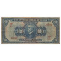 Brasil 100 Mil Réis 1942 R141d Mbc Cédula - Tchequito