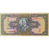 Antiga Cédula 20 Mil Réis R19d 16ª Estampa Objetos Antigos