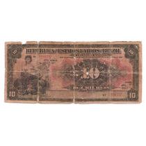 Cedula Antiga De Reis - 10mil Reis - R105 -bc De 1911