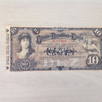 L-690 R 1 Cédula 10 Mil Réis Linda Réplica - 1892