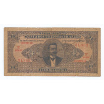 Brasil 1 Mil Réis 1920 R078 Mbc Cédula - Tchequito