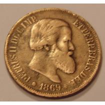 Moeda De 1 Vintem, 20 Rés Império Ano 1869, Frete Gratis 1b