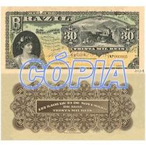 Ensaio Cédula 30 Mil Réis De 1890 - Não Circulada