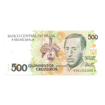 Cedula Antiga 500 Cruzeiros C 216 - Fe