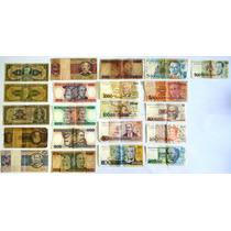 25 Cédulas De Dinheiro Antigo