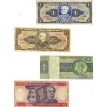 Lote 12 Cédulas Dinheiro Antigo De Cruzeiros, Coleção Lote 8