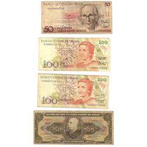 Lote 7 Cédulas Dinheiro Antigo De Cruzeiros, Coleção Lote 11