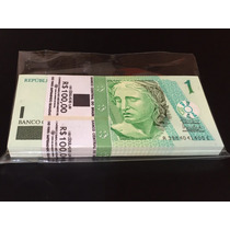 Centena Lacrada, 1 Real C254 Banco Central Fe 100 Cédulas