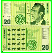 Hutt River (austrália): Linda Cédula 20 Cents 1970 Fe