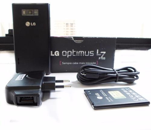 Celular Smartphone Lg Optimus P705 L7 Preto Original Nf-e