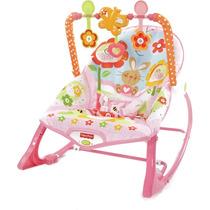 Cadeira De Balanço Rosa Bebê Minha Infância Fisher Price