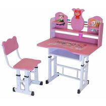 Mesa E Cadeira Infantil Com Regulagem De Altura Criança Bebê