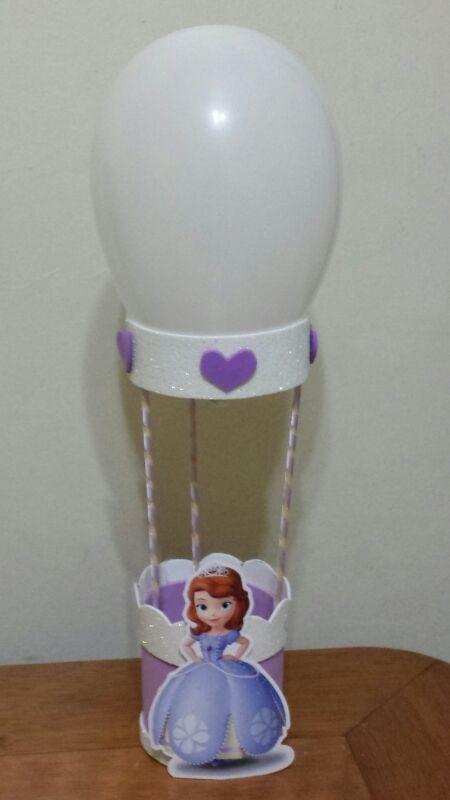 Centro De Mesa Em Eva Personalizada Princesa Sofia Disney - R$ 65,00