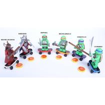 Bonecos Compatível Lego Tartarugas Ninja - 6 Personagens