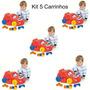 Kit Com 5 Carro Com Atividades Play Time - Cotiplás
