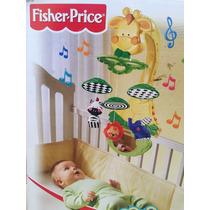 Móbile Girafa Fisher Price Mattel Para Bebê Berço - Musical