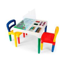 Mesinha Didática Infantil Com Cadeiras Poliplac Cadeirinha