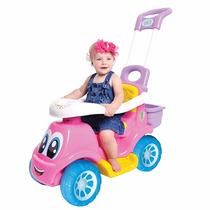 Carrinho Andador Little Truck 3 Em 1 Menina C/ Haste Maral