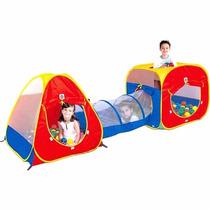 Toca Infantil 3 Em 1 Bolinhas E Túnel Bonito