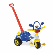 Motoca Policia Com Haste Magic Toys