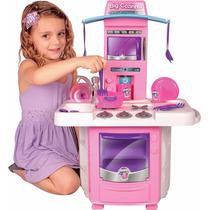 Nova Big Cozinha Com Acessórios Brinquedo Menina Big Star!