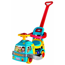 Andador Bichos Com Haste E Aro Azul Som E Luz - Magic Toys