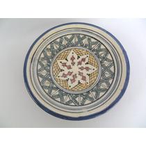 Prato De Parede Cerâmica Vitrificada Com Pintura À Mão