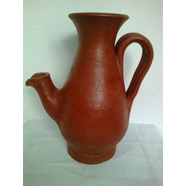 Moringa Vaso Cerâmica Forma De Bule Barro Decoração Rustica