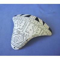Tanga - Enfeite De Mesa / Parede Ceramica Marajoara