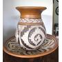 Conjunto De Vaso E Prato Em Cerâmica Marajoara #2122