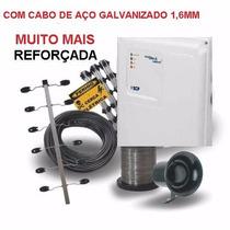 Kit Cerca Eletrica Industrial 1 M P/ 60metros Cabo De Aço