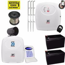 Kit Alarme Monitorado Via Celular Com Cerca Eletrica Jfl