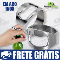 Anel Abridor De Garrafa - Presente Amigos, Garçom - Aço Inox