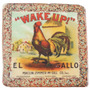 Porta Copos Em Resina Wake Up El Gallo Oldway - 9,5 Cm